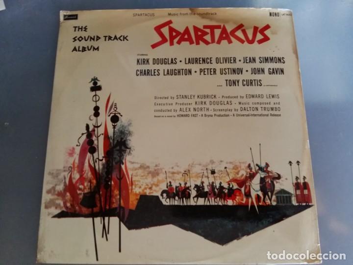 Discos de vinilo: BSO ESPARTACO SPARTACUS Alex North Stanley Kubrick Kirk Douglas Tony Curtis EDICION INGLESA DE 1960 - Foto 4 - 169064412