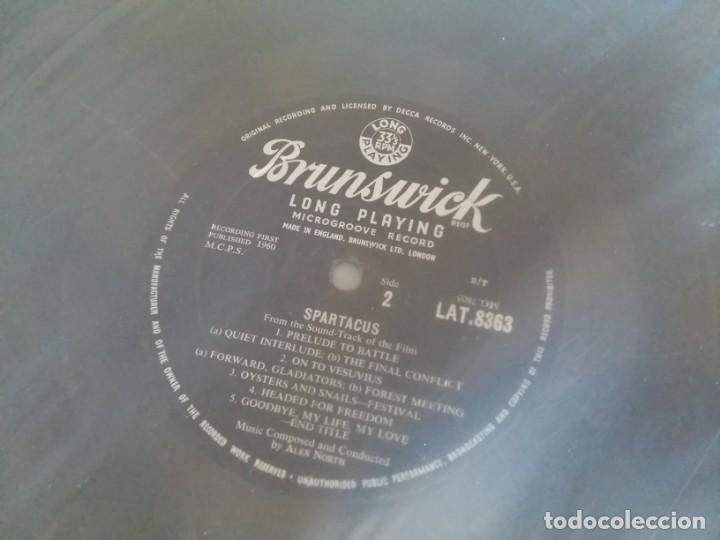 Discos de vinilo: BSO ESPARTACO SPARTACUS Alex North Stanley Kubrick Kirk Douglas Tony Curtis EDICION INGLESA DE 1960 - Foto 5 - 169064412