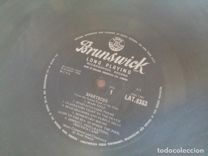 Discos de vinilo: BSO ESPARTACO SPARTACUS Alex North Stanley Kubrick Kirk Douglas Tony Curtis EDICION INGLESA DE 1960 - Foto 6 - 169064412