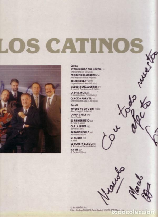 Discos de vinilo: Los Catinos– Canciones Románticas - LP SPAIN 1991 - Foto 2 - 169089456