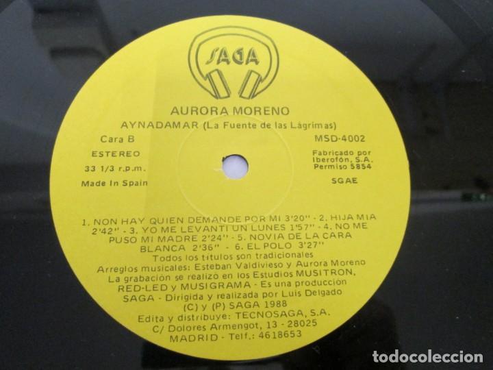 Discos de vinilo: AURORA MORENO. AYNADAMAR. LA FUENTE DE LAS LAGRIMAS. LP VINILO. TECNOSAGA 1988. - Foto 4 - 169104476