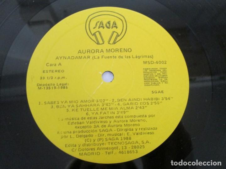Discos de vinilo: AURORA MORENO. AYNADAMAR. LA FUENTE DE LAS LAGRIMAS. LP VINILO. TECNOSAGA 1988. - Foto 6 - 169104476