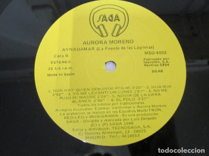 Discos de vinilo: AURORA MORENO. AYNADAMAR. LA FUENTE DE LAS LAGRIMAS. LP VINILO. TECNOSAGA 1988. - Foto 8 - 169104476