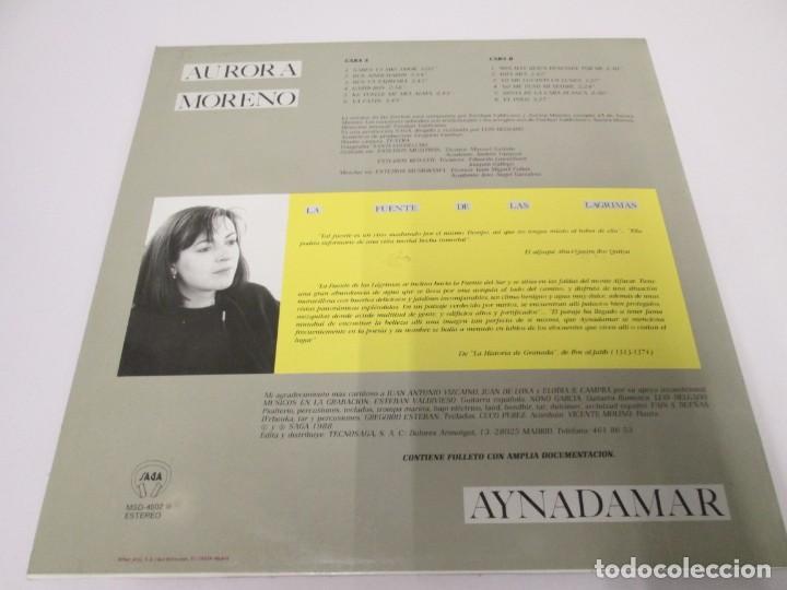 Discos de vinilo: AURORA MORENO. AYNADAMAR. LA FUENTE DE LAS LAGRIMAS. LP VINILO. TECNOSAGA 1988. - Foto 10 - 169104476