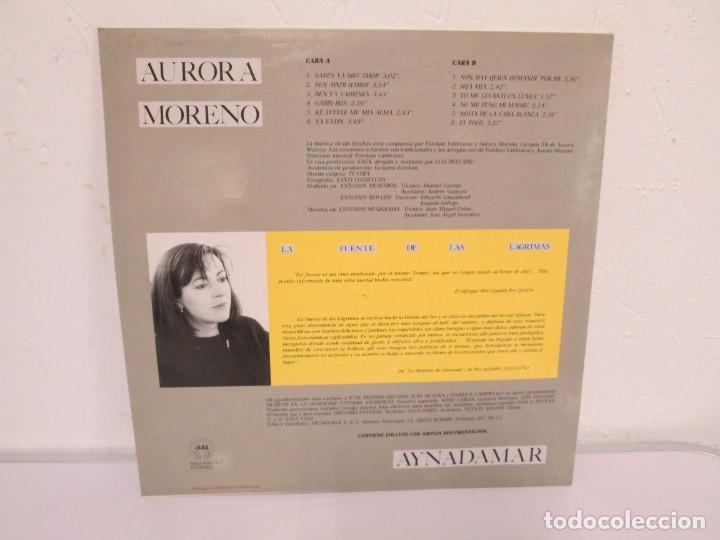 Discos de vinilo: AURORA MORENO. AYNADAMAR. LA FUENTE DE LAS LAGRIMAS. LP VINILO. TECNOSAGA 1988. - Foto 11 - 169104476