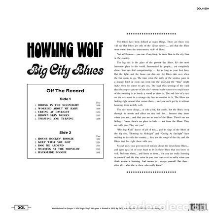 Discos de vinilo: Howling Wolf * LP Heavyweight 180g * Big City Blues * Precintado - Foto 2 - 169118968