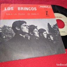Discos de vinilo: LOS BRINCOS BAILA LA PULGA/ES PARA TI 7'' SINGLE 1965 NOVOLA SPAIN ESPAÑA. Lote 279529268