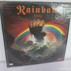 Discos de vinilo: RAINBOW RISING. LP VINILO. FONOGRAM POLYDOR 1976. VER FOTOGRAFIAS ADJUNTAS. Lote 169143292