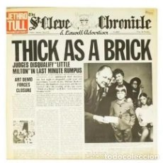 Discos de vinilo: THICK AS A BRICK.JETHRO TULL.CHRYSALIS.1972.SPANISH.. Lote 169179368