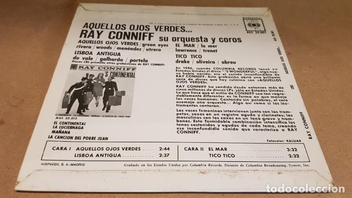 Discos de vinilo: RAY CONNIFF / AQUELLOS OJOS VERDES / EP - CBS-1962 / MBC. ***/*** - Foto 2 - 169181388