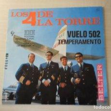 Discos de vinilo: LOS 4 DE LA TORRE -SINGLE VINILO (1966). Lote 169194288