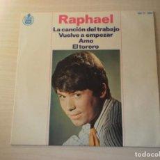 Discos de vinilo: RAPHAEL -SINGLE VINILO (1966). Lote 169194952