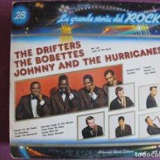Discos de vinilo: LP - LAS GRANDES ESTRELLAS DEL ROCK - THE DRIFTERS, THE BOBETTES, JOHNNY AND THE HURRICANES. Lote 169198496