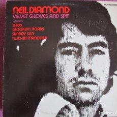 Discos de vinilo: LP - NEIL DIAMOND - VELVET GLOVES AND SPIT (SPAIN, MCA RECORDS 1982). Lote 169200296