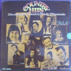 Discos de vinilo: LP - COUNTRY HITS VOL. 4 - VARIOS (VR FOTO ADJUNTA) (GERMANY, MCA CORAL 1975). Lote 169203504