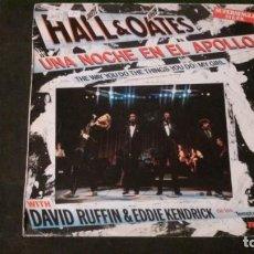 Discos de vinilo: LP-DARYL HALL & JOHN OATES-UNA NOCHE EN EL APOLLO-1985. Lote 169206604