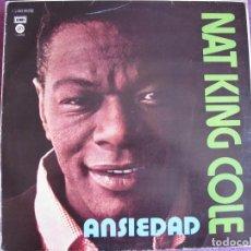 Discos de vinilo: LP - NAT KING COLE - ANSIEDAD (SPAIN, CAPITOL RECORDS). Lote 169208344