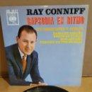 Discos de vinilo: RAY CONNIFF / RAPSODIA EN RITMO / EP - CBS-1963 / MBC. ***/***. Lote 169210980