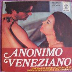 Discos de vinilo: LP - ANONIMO VENEZIANO - MUSIC BY STELVIO CIPRIANI (SPAIN, HISPAVOX 1971). Lote 169211380