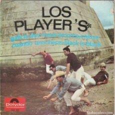 Discos de vinilo: LOS PLAYER'S - BLACK IS BLACK + 3 (EP POLYDOR 1966). Lote 169214224