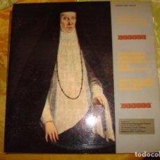 Discos de vinilo: POLIFONIA RELIGIOSA ESPAÑOLA DEL S. XVI : TOMAS LUIS DE VICTORIA. 2 LP´S + LIBRETO. IMPECA. Lote 169215376