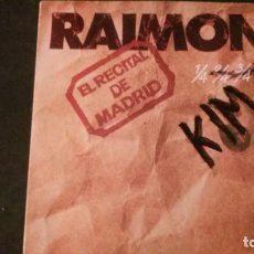 Discos de vinilo: DOBLE LP-RAIMON-EL RECITAL DE MADRID-1976. Lote 169221764