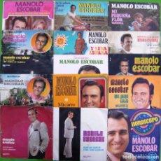 Discos de vinilo: LOTE 15 SINGLES DE MANOLO ESCOBAR. Lote 169241748