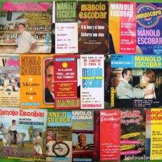 Discos de vinilo: LOTE 16 SINGLES Y EP DE MANOLO ESCOBAR. Lote 169241864