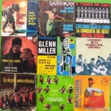 Discos de vinilo: LOTE 9 SINGLES: MUSICA DE PELICULAS, LA TUNA, SANDOKAN, CANCIONES DE LA GUERRA CIVIL. Lote 169242168