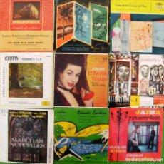 Discos de vinilo: LOTE 9 SINGLES M. CLASICA: PROKOFIEV, COSACOS, MARCHAS NUPCIALES, CHOPIN.... Lote 169242504