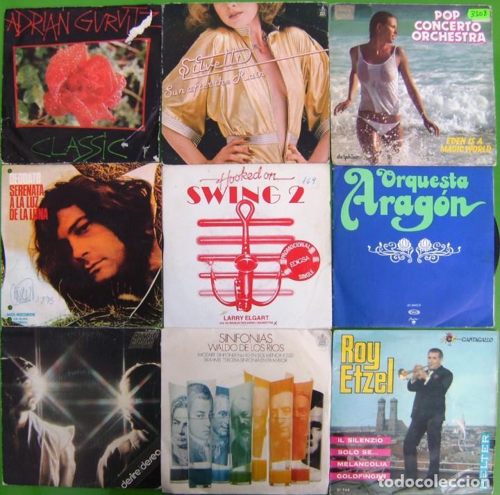 LOTE 9 SINGLES: DEODATO, FUTURE WORLD, ADRIAN GURVITZ, SILVETTI, LARRY ELGART (Música - Discos - Singles Vinilo - Orquestas)