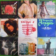 Discos de vinilo: LOTE 9 SINGLES: DEODATO, FUTURE WORLD, ADRIAN GURVITZ, SILVETTI, LARRY ELGART. Lote 169242656