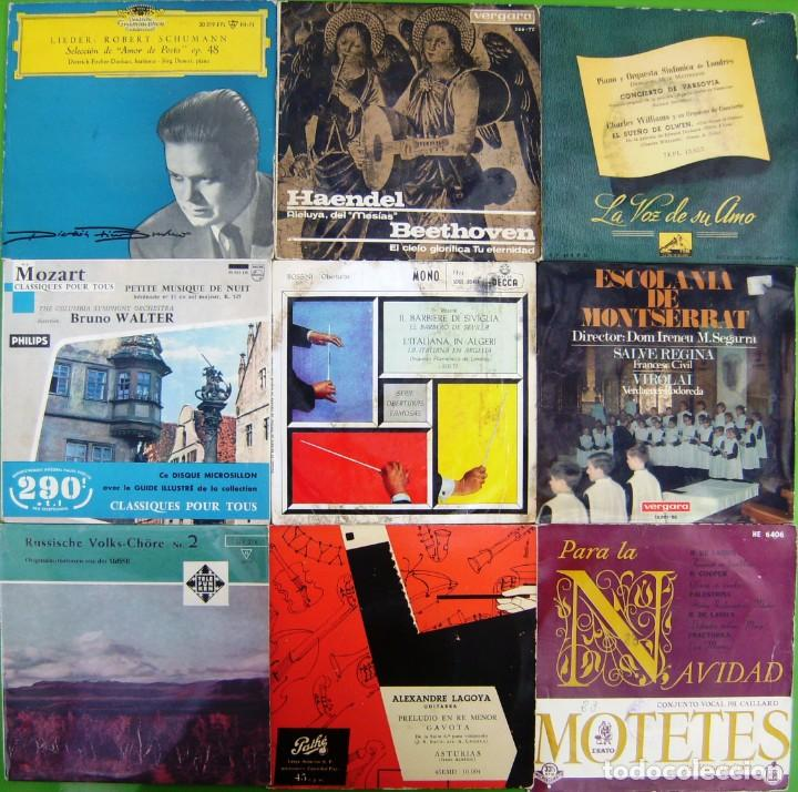LOTE 9 SINGLES: CORO RUSO, ADDINSELL, ROSSINI, MOTETES, BACH, SCHUMANN (Música - Discos - Singles Vinilo - Clásica, Ópera, Zarzuela y Marchas)