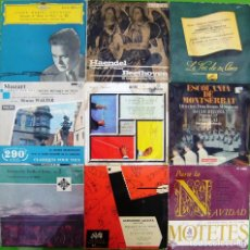 Discos de vinilo: LOTE 9 SINGLES: CORO RUSO, ADDINSELL, ROSSINI, MOTETES, BACH, SCHUMANN. Lote 169242872