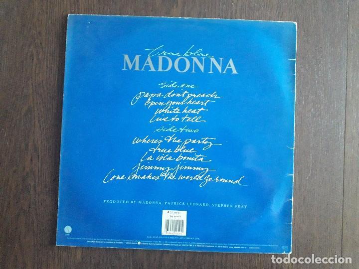 Discos de vinilo: disco vinilo LP, Madonna, true blue. año 1986 - Foto 2 - 169253482
