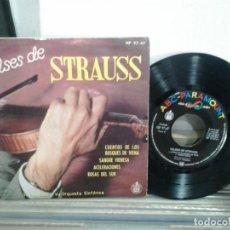 Discos de vinilo: LMV - VALSES DE STRAUSS. HISPAVOX 1962, REF. HP 97-47. EP. Lote 169271012