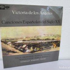 Discos de vinilo: VICTORIA DE LOS ANGELES. CANCIONES ESPAÑOLAS DEL SIGLO XX. GONZALO SORIANO. LP VINILO EMI 1964. Lote 169295816