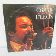 Discos de vinilo: OSCAR D´LEON. AL FRENTE DE TODOS. LP VINILO. EMI 1981. VER FOTOGRAFIAS ADJUNTAS. Lote 169297820
