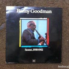 Discos de vinilo: BENNY GOODMAN. SEXTET, 1950-1952 (LP) CBS. Lote 169312732
