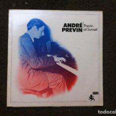 Discos de vinilo: ANDRÉ PREVIN. PREVIN AT SUNSET (LP) HOLLAND. Lote 169313332
