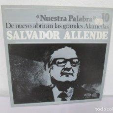Discos de vinilo: NUESTRA PALABRA. VOL 10. DE NUEVO ABRIRAN LAS GRANDES ALAMEDAS. LP VINILO. MOVIEPLAY 1977. Lote 169316680