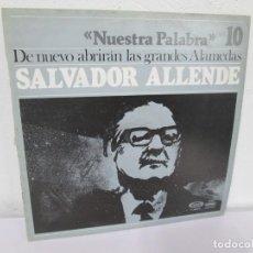 Discos de vinilo: NUESTRA PALABRA. VOL 10. DE NUEVO ABRIRAN LAS GRANDES ALAMEDAS. LP VINILO. MOVIEPLAY 1977. Lote 169316972