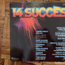 Discos de vinilo: 14 SUCCÈS LABEL: RCA ?– PL 37108 FORMAT: VINYL, LP, COMPILATION PAYS: FRANCE SORTIE: 1977 GENRE: ELE. Lote 169324124