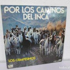 Discos de vinilo: POR LOS CAMINOS DEL INCA. LOS CAMPESINOS. LP VINILO GRAMUSIC 1972. VER FOTOGRAFIAS ADJUNTAS. Lote 169328500
