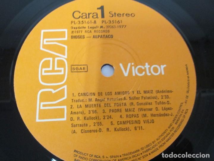 Discos de vinilo: DIOSES ALPATACO. LP VINILO. RCA 1978. VER FOTOGRAFIAS ADJUNTAS - Foto 4 - 169329632