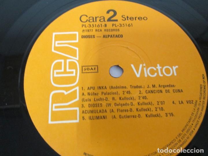 Discos de vinilo: DIOSES ALPATACO. LP VINILO. RCA 1978. VER FOTOGRAFIAS ADJUNTAS - Foto 6 - 169329632