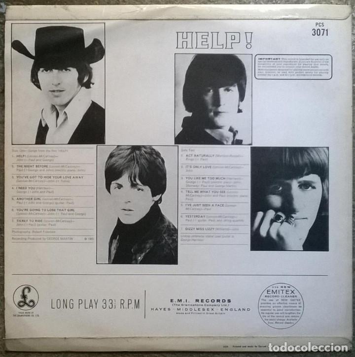 Discos de vinilo: The Beatles. Help! Parlophone, UK 1965 LP Stereo (PCS 3071) - Foto 2 - 169330192
