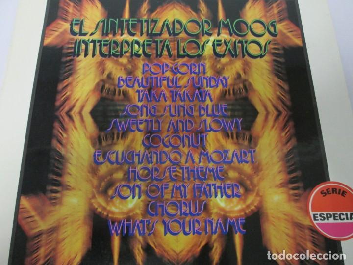 Discos de vinilo: EL SINTETIZADOR MOOG INTERPRETA LOS EXITOS. LP VINILO. MOVIEPLAY. 1972. - Foto 3 - 169331668