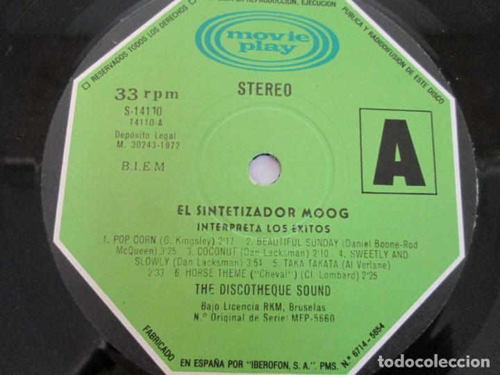 Discos de vinilo: EL SINTETIZADOR MOOG INTERPRETA LOS EXITOS. LP VINILO. MOVIEPLAY. 1972. - Foto 5 - 169331668