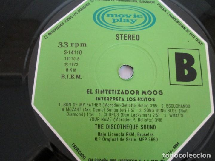 Discos de vinilo: EL SINTETIZADOR MOOG INTERPRETA LOS EXITOS. LP VINILO. MOVIEPLAY. 1972. - Foto 7 - 169331668